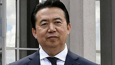 Wife of missing ex-Interpol chief says arrest in China politically motivated