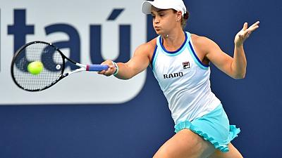 Tennis - Barty waits out rain to reach Miami final