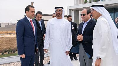 His Highness Sheikh Mohamed bin Zayed, Egyptian President tour under-construction developments in Al Alamein New City