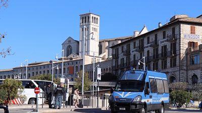 Assisi blindata per re di Giordania