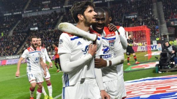 Ligue 1: Lyon s'impose à Rennes 1-0 et revient à un point de Lille, 2e