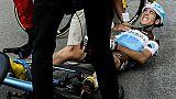Cyclisme: 7e fracture de la clavicule pour Domont
