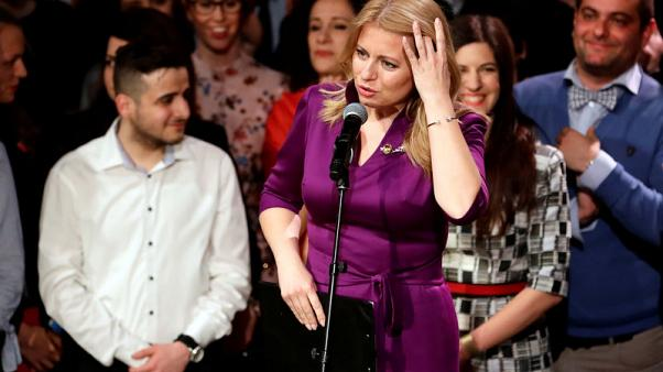 Liberal lawyer Caputova on course to become Slovakia's first female president