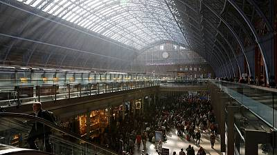 Man arrested after Eurostar suspends train services due to trespasser