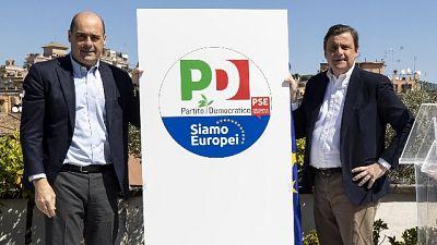 Zingaretti presenta logo per Europee