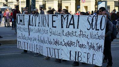 Cortei anarchici verso raduno bloccato