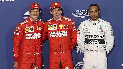 Ferrari's Leclerc takes first F1 pole in Bahrain