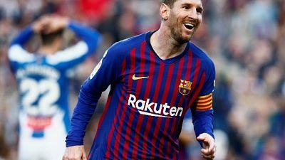 Barcellona-Espanyol 2-0, doppietta Messi