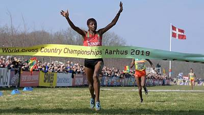 Athletics - Obiri achieves historic world treble at cross country