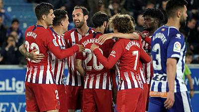 Atletico crush Alaves to retain faint title hopes
