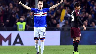 Sampdoria pounce on Donnarumma mistake to beat Milan