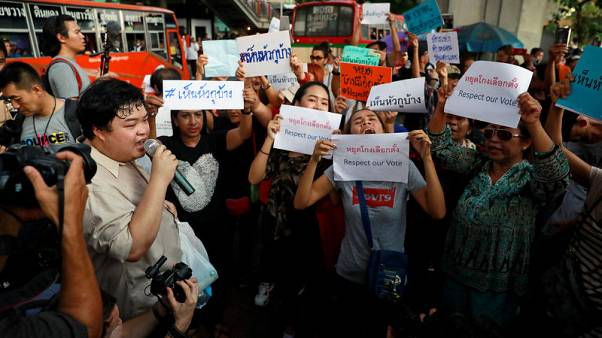 Thai activists protest against commission after chaotic poll