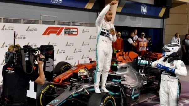 Le Britannique Lewis Hamilton remporte le GP de Bahreïn le 19 mars 2019