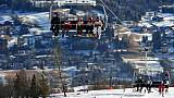La station italienne de ski de Cortina d'Ampezzo vue le 15 janvier 2012