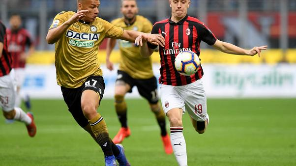 Udinese hold Milan with classic counter-attack goal