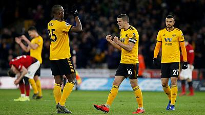 Hungry Wolves beat 10-man Manchester United 2-1