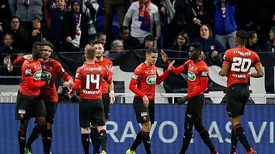 Rennes beat Lyon to reach French Cup final, Genesio deal on hold