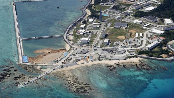 Outnumbered and elderly, Okinawa protesters oppose U.S. military runway