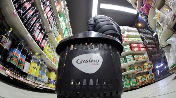 French retailer Casino's shares fall after Moody's downgrade