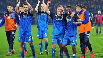Empoli boost survival hopes with shock win over Napoli