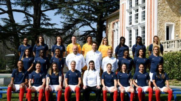 L'équipe de France féminine, le 2 avril 2019 à Clairefontaine