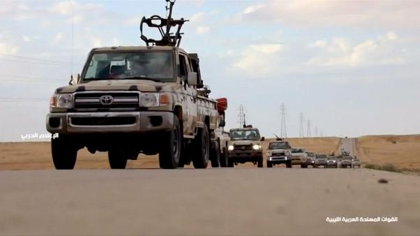Eastern Libyan forces advance to position near town of Gharyan