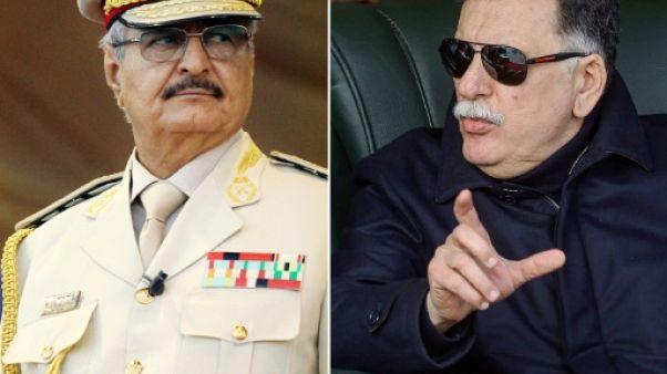 """L'homme fort de l'est libyen ordonne à ses troupes """"d'avancer"""" sur Tripoli"""