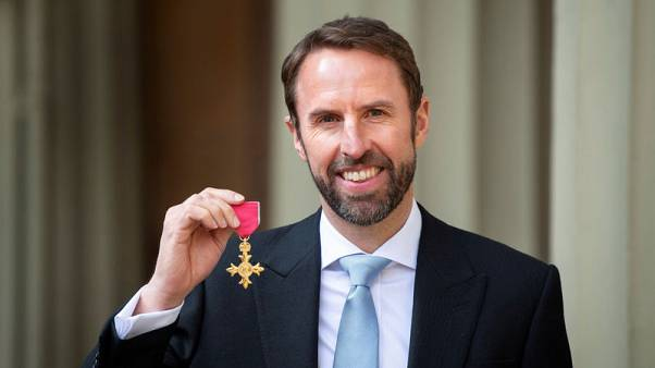 England soccer manager Southgate honoured at Buckingham Palace