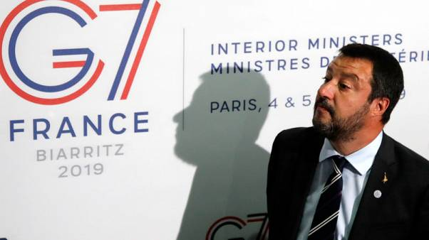"""Italy's Salvini now """"in sync"""" with French over migrants, to meet Le Pen"""
