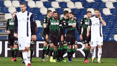 Sassuolo-Chievo 4-0 nel posticipo