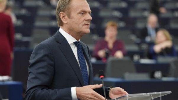 Le président du Conseil européen Donald Tusk à Strasbourg, le 27 mars 2019