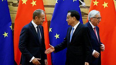 EU, China stumble over trade, human rights ahead of summit