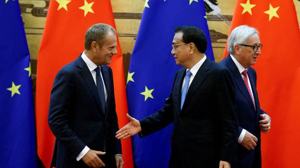 EU, China stumble over trade, human rights ahead of summit