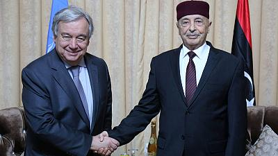 "U.N. Secretary-General says he is leaving Libya with ""heavy heart"""