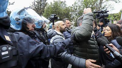 Proteste anti-nomadi: sit-in Forza Nuova