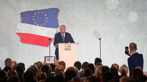 Polish opposition kicks off election campaign with 'Polexit' warning