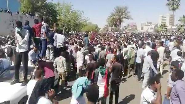 Thousands of Sudanese protest outside Bashir's compound - witnesses
