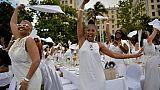 Dîner en blanc à Cuba: pique-nique français et ambiance américaine