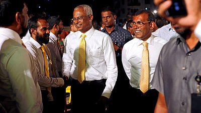 Maldives leader heads for landslide win at parliament poll