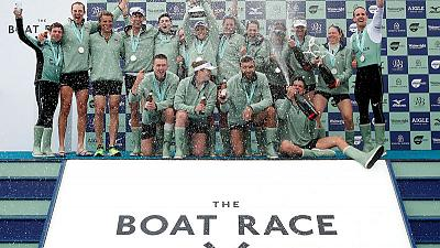 Rowing - Cracknell's Cambridge beat Oxford by two seconds in boat race