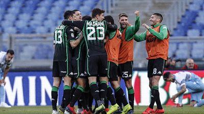 Lazio pari al 95', Sassuolo sfiora colpo