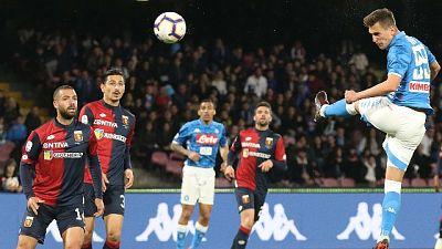 Serie A: Napoli-Genoa 1-1