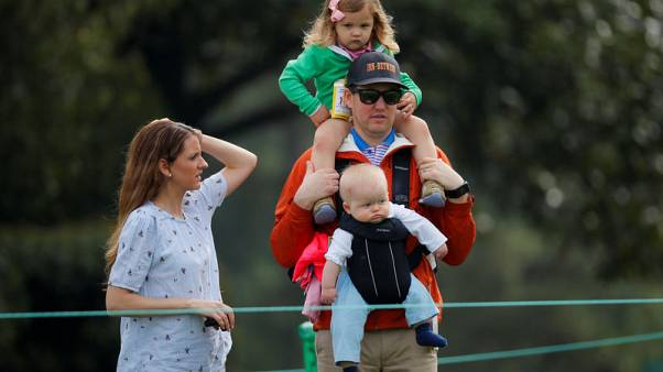 Golf - Women and kids take over Augusta National ahead of Masters