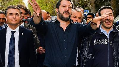 Europee: Salvini, obiettivo primo gruppo