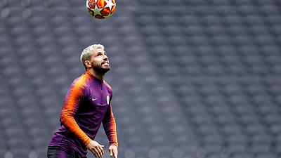 Man City's Aguero in contention to face Tottenham in Champions League