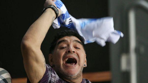 Maradona fined after dedicating win to Venezuela's Maduro