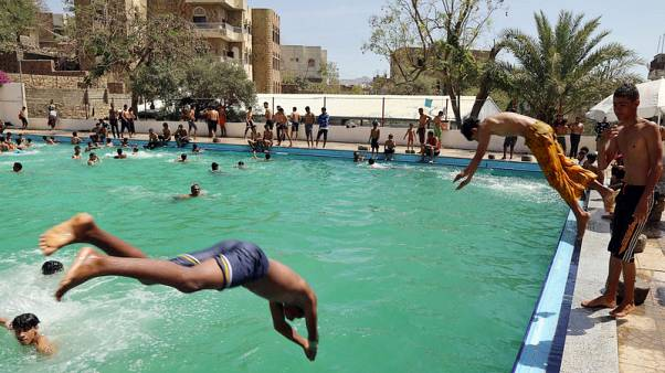 Sole swimming pool in Yemen's third city struggles to remain open