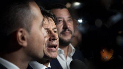 Vertice di governo Conte-Salvini-Di Maio