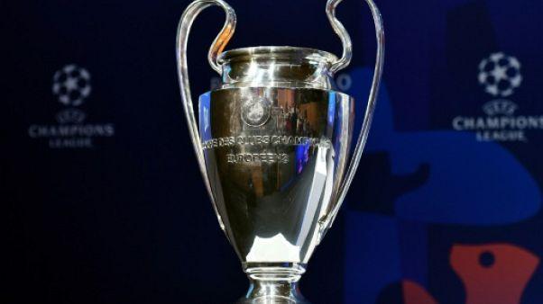 Le trophée de la Ligue des champions, à Nyon, le 15 mars 2019