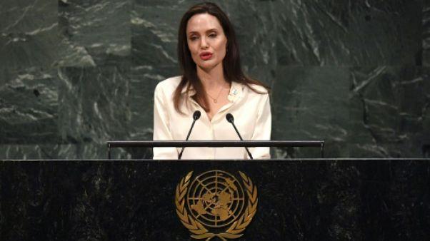 Angelina Jolie au siège des Nations unies à New York, le 29 mars 2019
